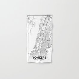 Minimal City Maps - Map Of Yonkers, New York, United States Hand & Bath Towel