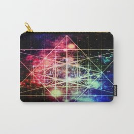 Rainbow Flower of Life : Sacred Geometry Carry-All Pouch