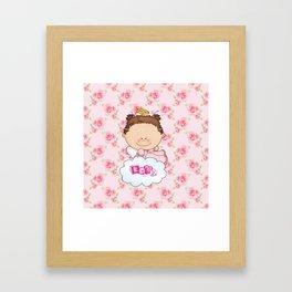 Baby Rose Is a Angel Framed Art Print