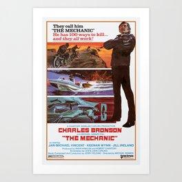 The Mechanic 1972 Art Print