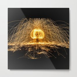 Rain of Fire Metal Print