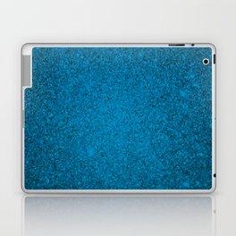 Cerulean Blue Sparkling Jewels Pattern Laptop & iPad Skin