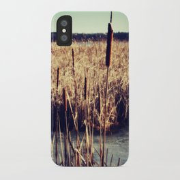 Cattails iPhone Case