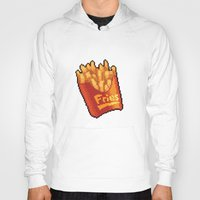 french fries Hoodies featuring Pixel Fries by TheSkywaker