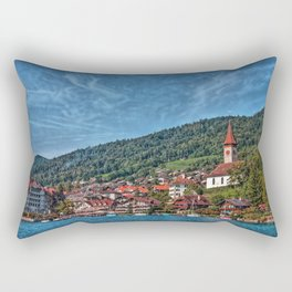 Lakefront Provincial Town Rectangular Pillow