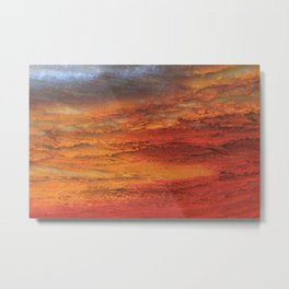 Fiery Red Abstract Metal Print