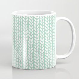 Knit Wave Mint Coffee Mug