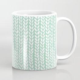 Knit Wave Mint Coffee Mug