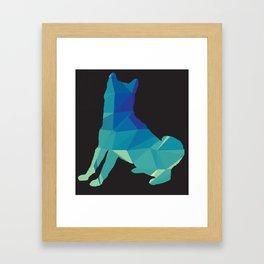 Polyshiba - Inverse Framed Art Print