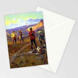 """""""Whiskey Smugglers"""" by Charles M Russell Stationery Cards"""