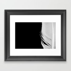 White Feather Framed Art Print