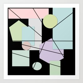 Mid Century Modern Abstract Art Print