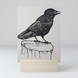 Observant Crow Mini Art Print