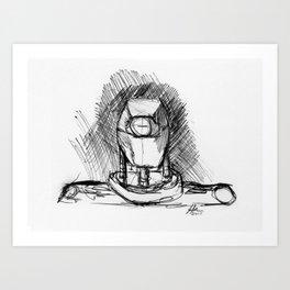 Warbot Sketch #040 Art Print