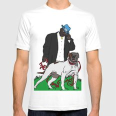 me and my bitch Mens Fitted Tee SMALL White