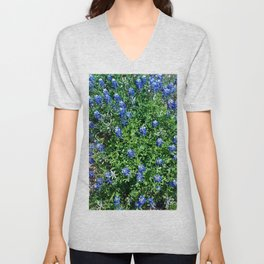 Stepping Out In Blue Unisex V-Neck