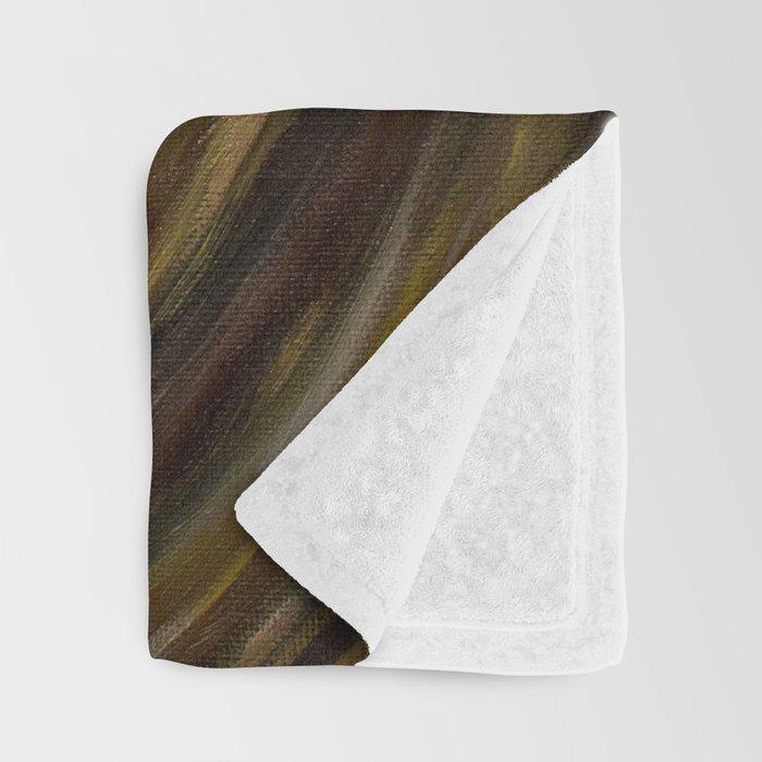 Intense Gaze Oil Painting detail Throw Blanket
