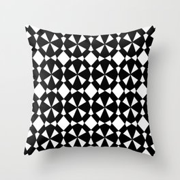 black and white symetric patterns 3- Throw Pillow