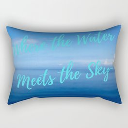 Text | Words | Sayings | Join Me... | Beach Vibes | Vacation Rectangular Pillow