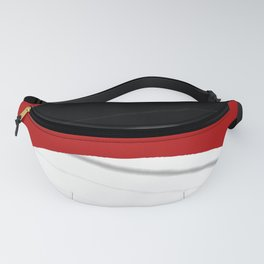 red black white grey abstract digital painting Fanny Pack