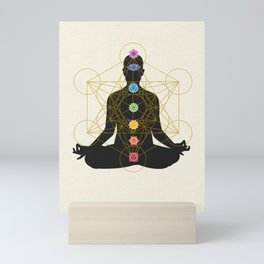 Sacred Geometry Metatron's Cube Chakra Meditation Mini Art Print