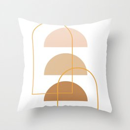 Half Moon Geometric Arch Stack Line Art Drawing Abstract Minimal Lines Design Throw Pillow