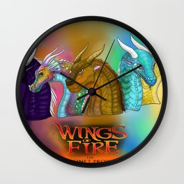 Wings Of Fire Dragons Wall Clock