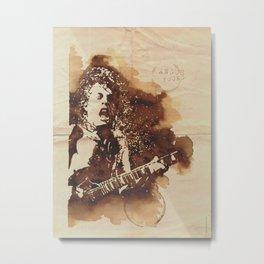 Angus Young Ilustracafe Metal Print