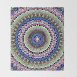 Girly Mandala Throw Blanket