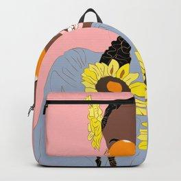 Believe in Yo Juice - Digital Black Goddess Vector Drawing Backpack
