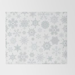 Snowflake pattern Throw Blanket