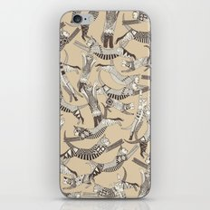 cat party beige natural iPhone & iPod Skin