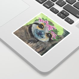Flower Crown Sloth Sticker