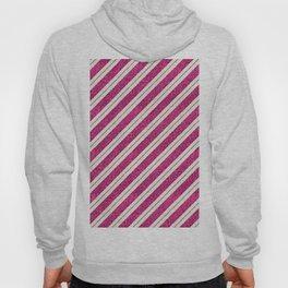 Neon pink faux gold glitter modern stripes pattern Hoody