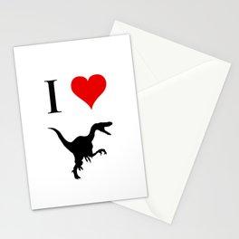 I Love Dinosaurs - Velociraptor Stationery Cards