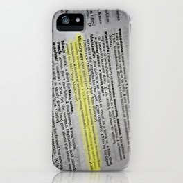 the verb is to macgyver iPhone Case
