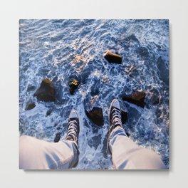 Feet on the cliff Metal Print