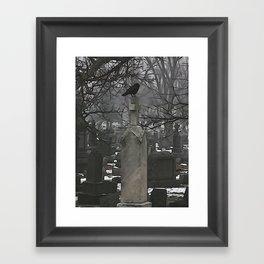 Gothic Scribbles Framed Art Print