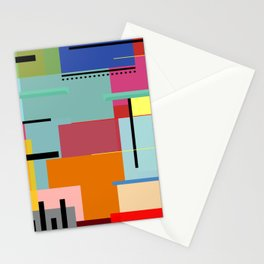 Colores y lineas Stationery Cards