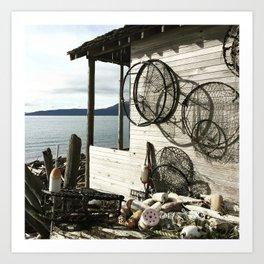 Beach Shack Lummi Island Art Print