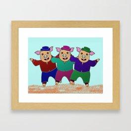 Three Little Pigs with Frekles Framed Art Print