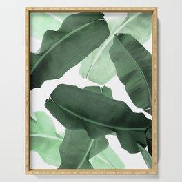 Green Banana Leaf Serving Tray