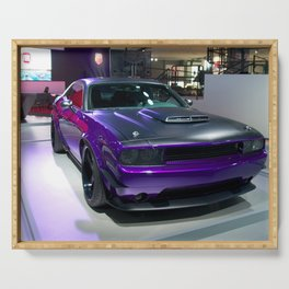 Purple Challenger Hellcat Demon color photograph / photography / poster Serving Tray