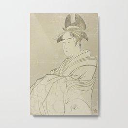 Miyahito of the Ogiya Metal Print