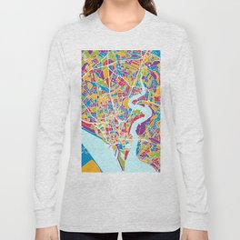 Southampton England City Map Long Sleeve T-shirt
