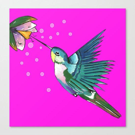 Spirited Hummingbird Canvas Print
