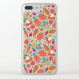 Thanksgiving Dinner Clear iPhone Case