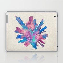 Chicago, Illinois Colorful Skyround / Skyline Watercolor Painting Laptop & iPad Skin