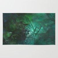 emerald Area & Throw Rugs featuring Emerald by Judy Applegarth