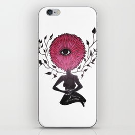 Divine Flower Woman iPhone Skin